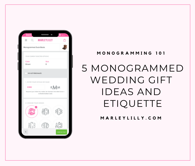 5 monogrammed wedding gift ideas and etiquette