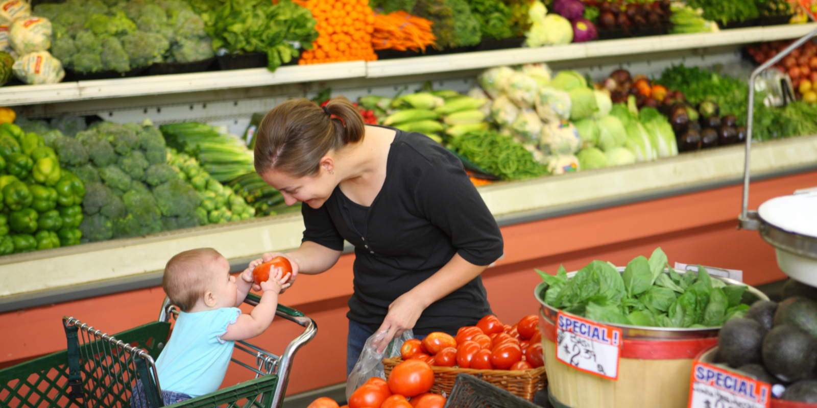 Explore the Grocery Store with Baby