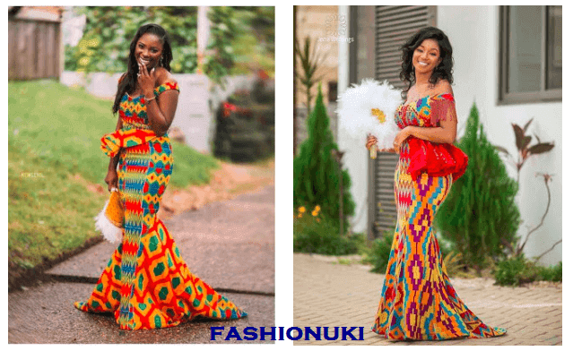 engaging traditional decorating styles | 34 Latest Ghanaian Kente Dresses Styles For Engagement To ...