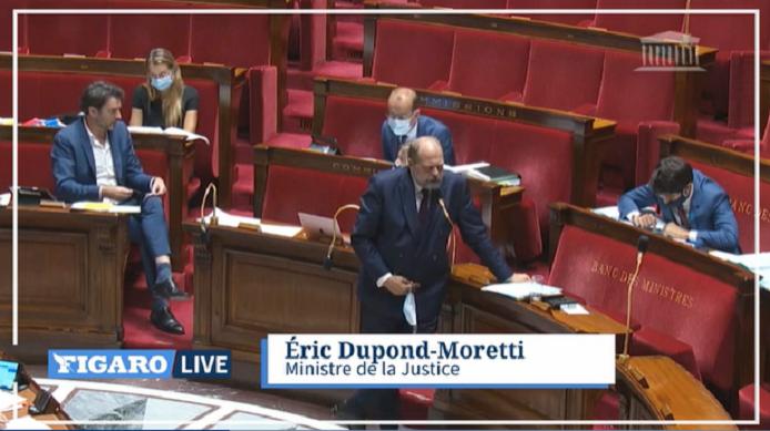 «Je suis très choqué par cet amendement» : Dupond-Moretti recadre une députée LR à l'Assemblée