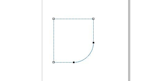 cara menambahkan sudut tumpul di corel draw
