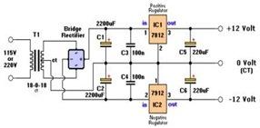 Dual Voltage Power Supply Circuit