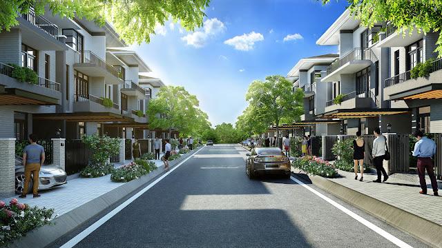 Phối cảnh nội khu dự án Lavila giai đoạn 2 của Kiến Á tại Nhà Bè.