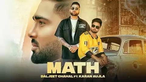 Math गणित Lyrics Hindi | Karan Aujla, Daljit Chahal