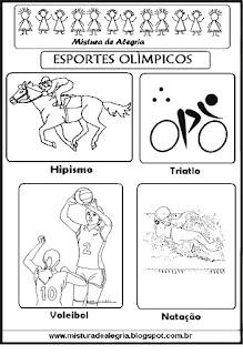 Esportes olímpicos para colorir