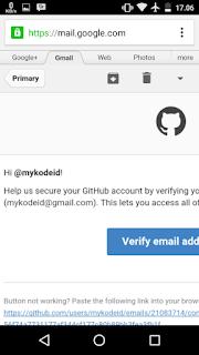membuat akun github (email verifikasi)