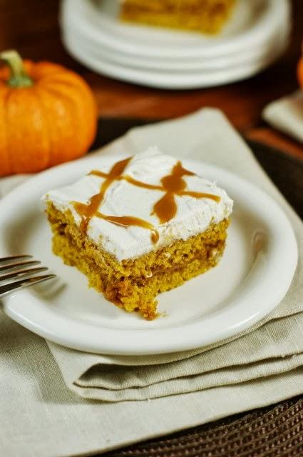 Caramel+Pumpkin+Snack+Cake+1 27 Amazing Apple and Pumpkin Recipes for Fall 70