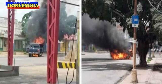 Camioneta explotó dentro de una bomba de gasolina en Maracaibo