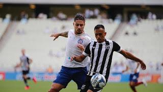 Gilberto faz os dois e Bahia empata com Ceará no Nordestão