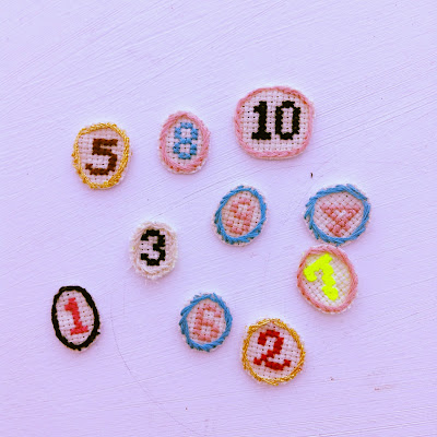 chiffres point de croix cross stitch numbers