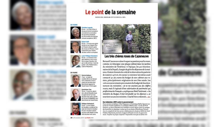 Les roses à 146.000 euros de ce ministre de François Hollande