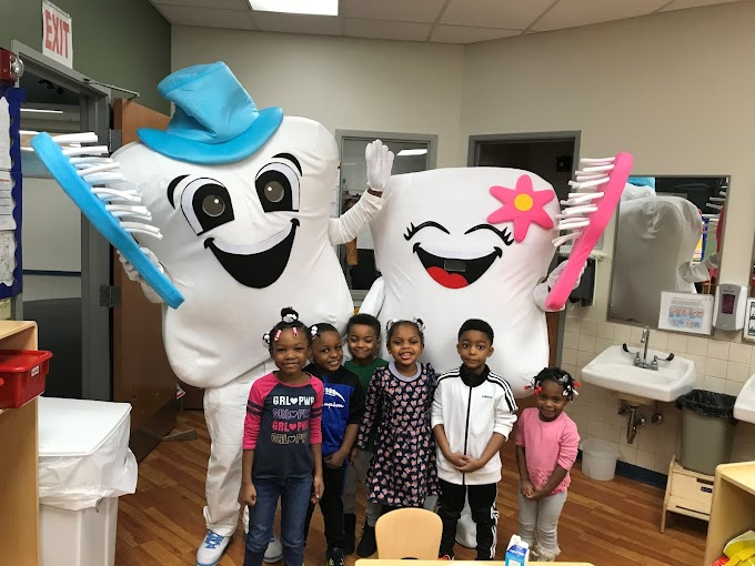 Giant Toothbrush Mascots Visit CAA Head Start Classrooms