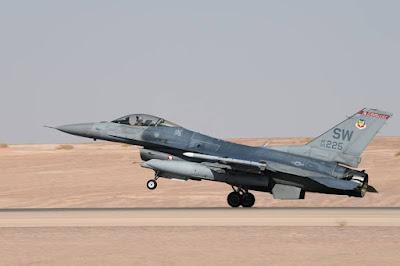 USAF deploys F16 Saudi Arabia
