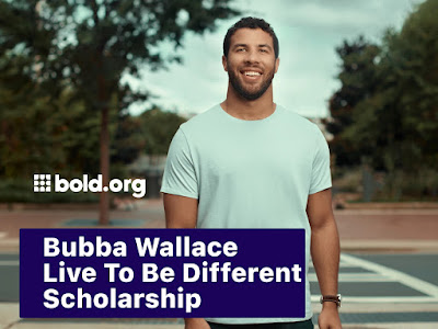 Bubba Wallace for the Bubba Wallace Live to be Different Scholarship #NASCAR