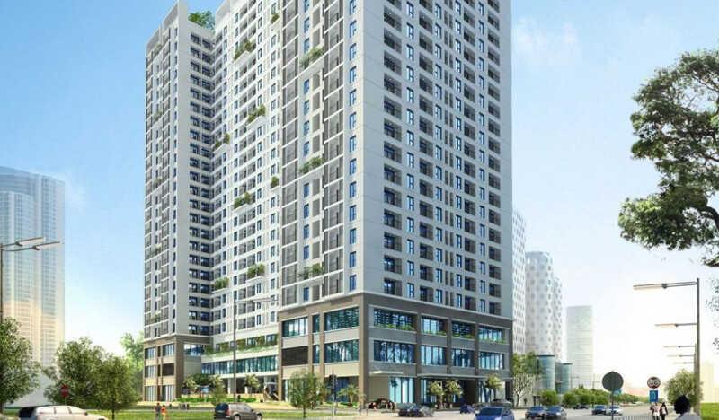 Phối cảnh tổng thể tại dự án Hà Sơn Tower