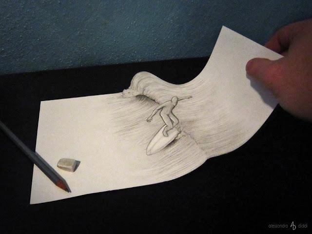 ilusi gambar tiga dimensi yang keren dan menakjubkan serta kreatif-26