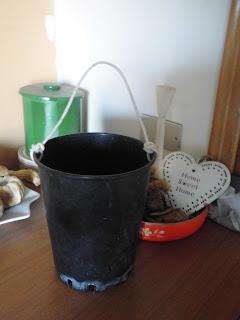 riciclo riutilizzo vasi plastica cestino