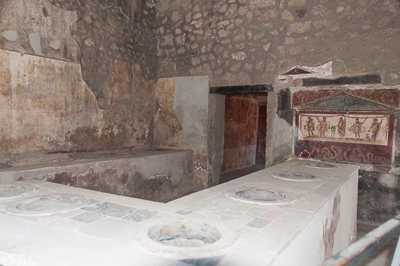 Thermopolium de Pompeya, ruinas de la ciudad romana