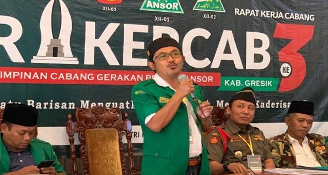GP Ansor Gresik Dukung Polisi dan TNI Tangani Pengusung Khilafah