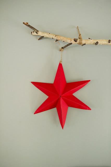 Paper star craft template