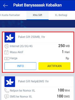 kuota gratis xl 250 mb untuk internet - xtra gift 250 mb setiap hari