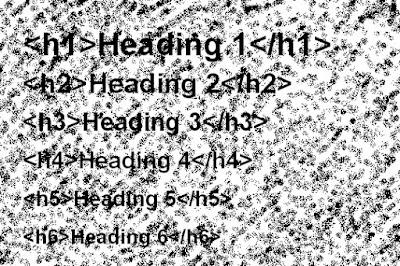 Cara Optimasi Penggunaan Tag Heading H1,H2,H3 Di Blogger