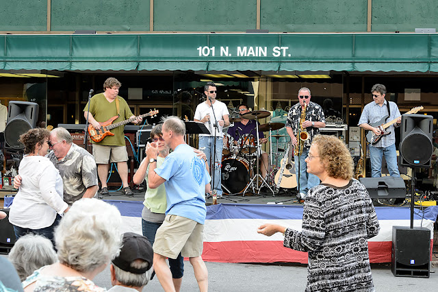96.5 House Band at the Waynesville Block Party
