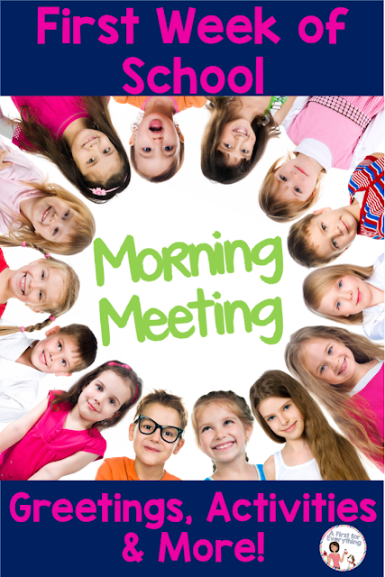 Help your kindergarten, 1st, or 2nd grade students get to know one another as they head back to school with these morning meeting greetings, activities, messages, and more! Set the tone first thing in the morning for collaborative, respectful classroom. {classroom management, responsive classroom, AM messages, elementary, 1st, 2nd, K, } #elementary #socialemotional