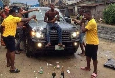 Yahoo boys celebrating