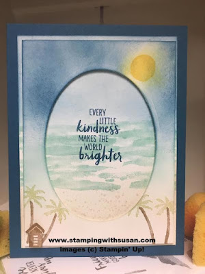 Stampin' Up! Waterfront Card Class Stampin' Classic Ink Pad Stampin' Sponge
