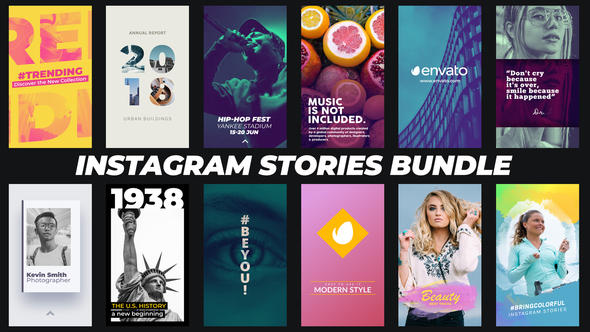 PREVIEW%2BHD VIDEOHIVE INSTAGRAM STORIES BUNDLE  - After Effects download