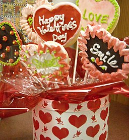 Photo of decorated Valentine's Day cookies