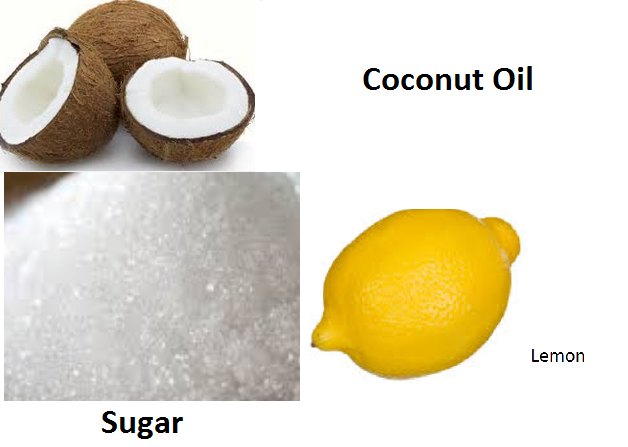 Coconut Oil, Sugar and Lemon Scrub Basic Homemade Facial Scrubs