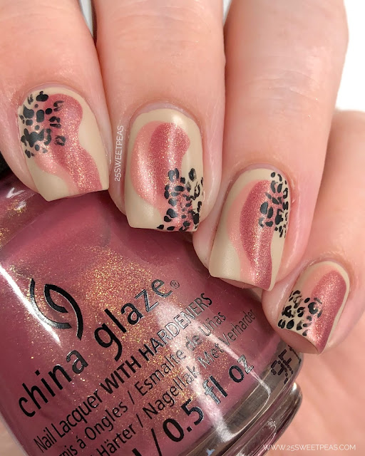 Abstract Cheetah Nail Art