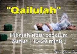 Qailulah (Tidur Siang) Dan Keutamaan Menjelang Waktu Dhuhur.