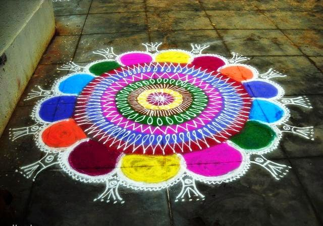 Happy Holi 2017 Latest And Best Rangoli Designs Made Of