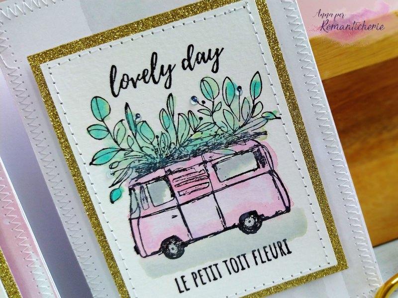 "[Cardmaking] Card set con furgoncino ""Le petit toit fleuri"" - VIDEO"