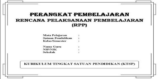 Contoh RPP KTSP Lengkap