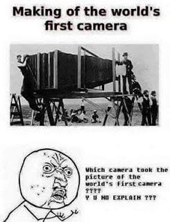 funny pics - World first camera
