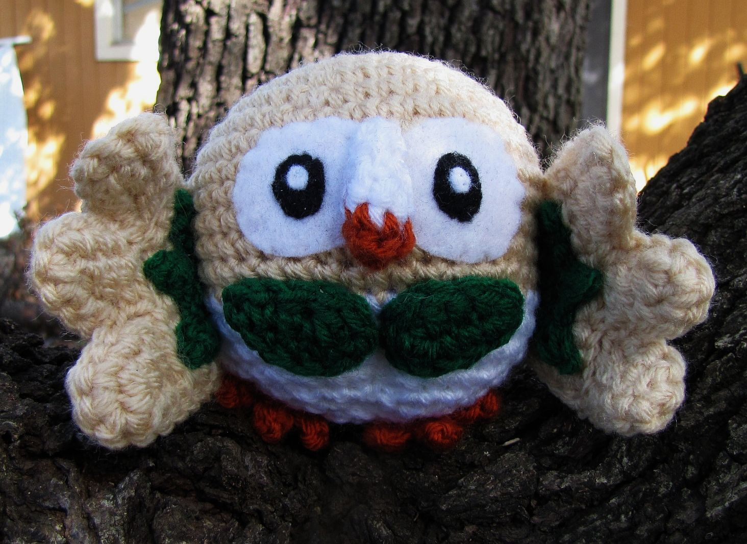 Amigurumi Pokemon Patterns Free : Wolfdreamer rowlet pokemon crochet plush free pattern