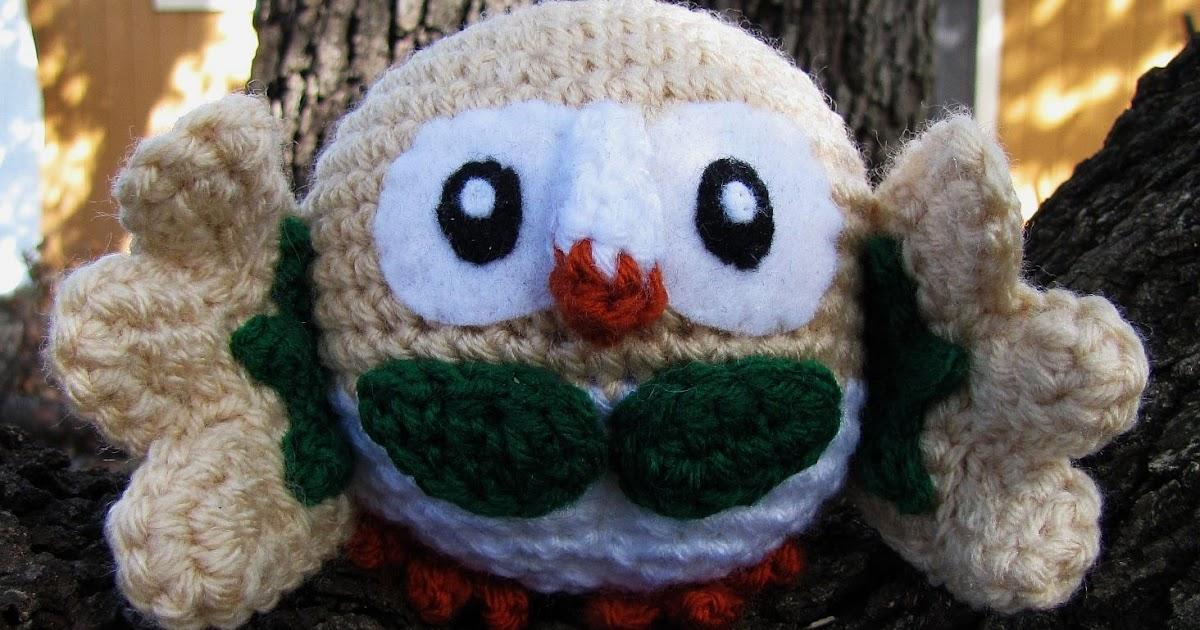 Wolfdreamer Rowlet Pokemon Crochet Plush Free Pattern