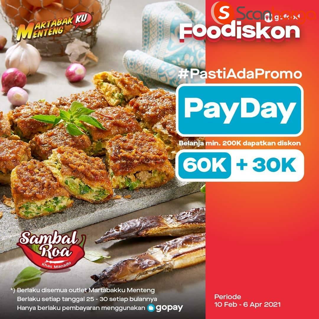 MARTABAKKU MENTENG Promo PAYDAY! Diskon 60k + 30K