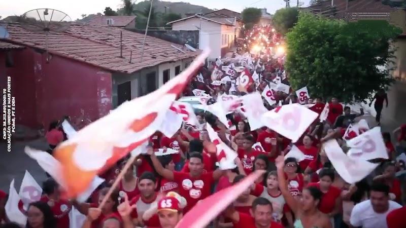 Lago da Pedra: Laércio Arruda lidera grande bandeiraço no bairro Vila Santa