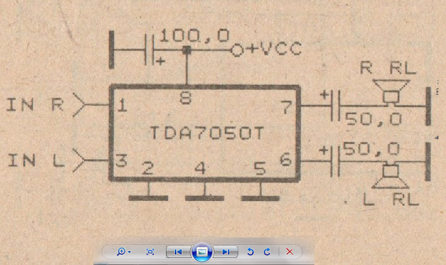 Very simple stereo amplifier circuit