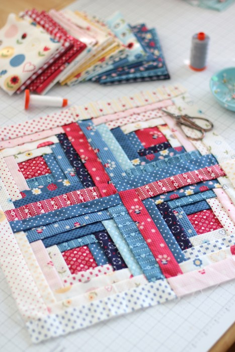 Manx Quilt Block Free Tutorial Designed by Amy Smart of Diary of a Quilter