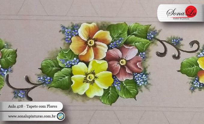 Aula 428 - Tapete com Flores