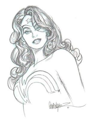 Wonder Woman portrait by Jose Luis Garcia Lopez