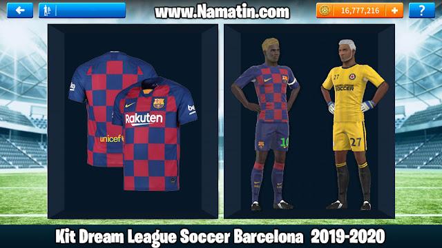 Kit Dream League Soccer Barcelona 2019-2020