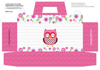Pink Owl: Free Printable Suitcase Favor Box.