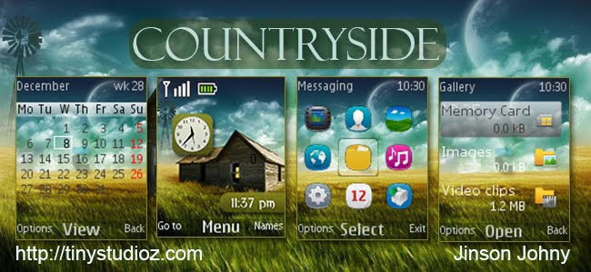 Countryside theme for Nokia C1-01/C1-02/C2-00/2690 and other Nokia S40 128X160 Devices